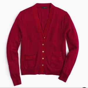 J.Crew Harlow NWT Cardigan Ribbon and Gold Buttons